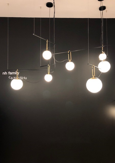 イタリアの大手照明ブランドARTEMIDEの展示ブース、Neri&Fu
