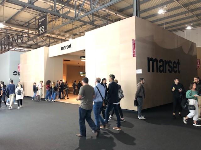 スペインの照明ブランドMARSETの展示ブース