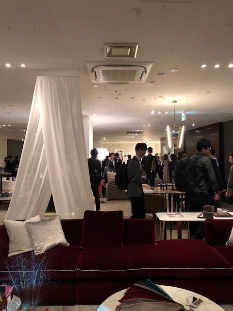 カッシーナイクスシー新作展示会、レセプション