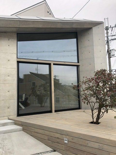 十七月の住居オープンハウス、正面大窓