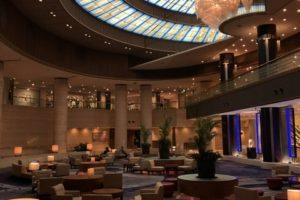 神戸ポートピアホテル、ロビー、トイレ、照明