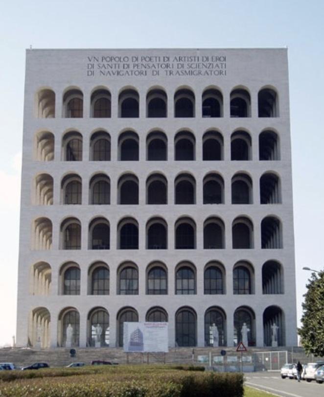 アルドロッシ、四角いコロッセオ、フェンディ本社ビルファシズム建築