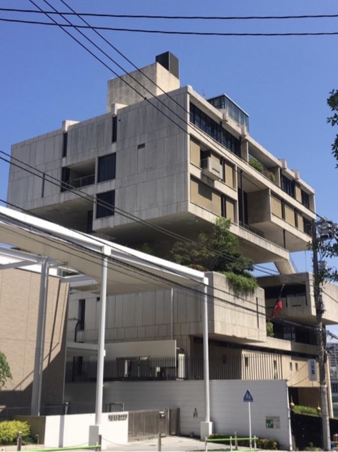 クウェート大使館、丹下健三、東京三田