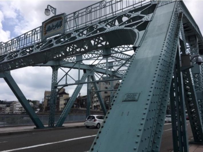 犀川大橋、石川県金沢市、ワーレントラス形式、1924年竣工、国の有形登録文化財