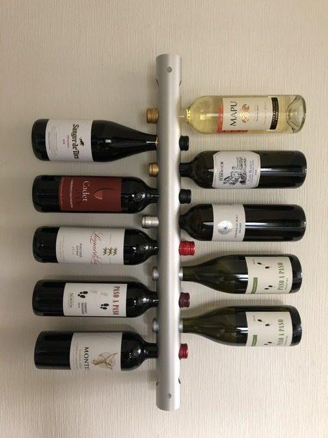 Rosendahl Anodised aluminium wine rack Kim Almsig Denmark