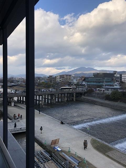 京都 三条大橋 欄干 緑青色 鴨川 木造橋