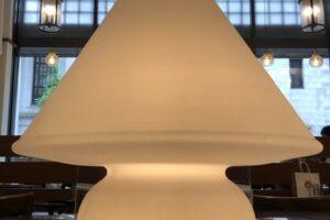 LIMBURG サテンオパールガラス テーブルスタンド ドイツ製 吹きガラス